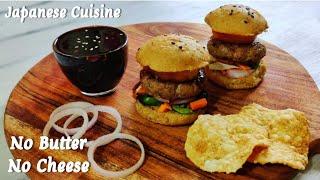 Delicious Burger without Cheese &amp Butter Teriyaki Chicken Burger तरयक चकन बरगर Teriyaki Sauce