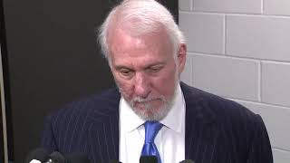 Gregg Popovich Reacts To Kobe Bryant's Tragic Helicopter Death