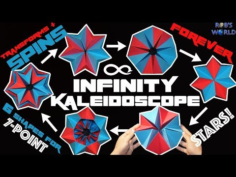 How to Make a Transforming INFINITY Kaleidoscope (Spins FOREVER!)