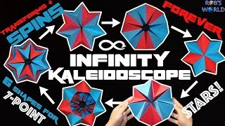 How To Make A Transforming INFINITY Kaleidoscope Spins FOREVER