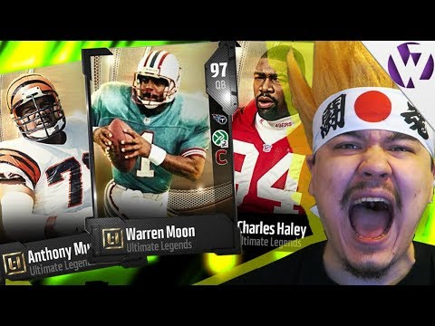 LTD ANTHONY MUNOZ! UL WARREN MOON & UL CHARLES HALEY! - Madden 18 Ultimate Legend Pack Opening