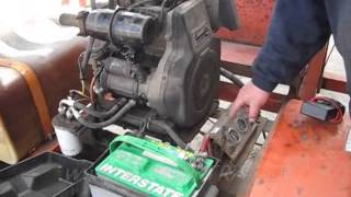 LOMBARDINI KOHLER DIESEL 7.5HP 6LD260 WITH 12V ALTERNATOR OUTPUT   SOLD.