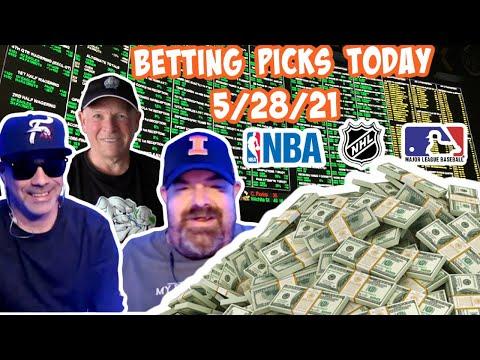Live Sports Betting Picks 5/28/21 - NBA Playoffs, MLB and NHL Playoff Picks