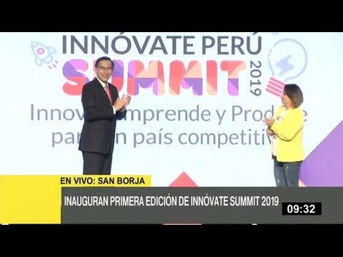 Presidente Vizcarra Inaugura En Innóvate Perú Summit 2009