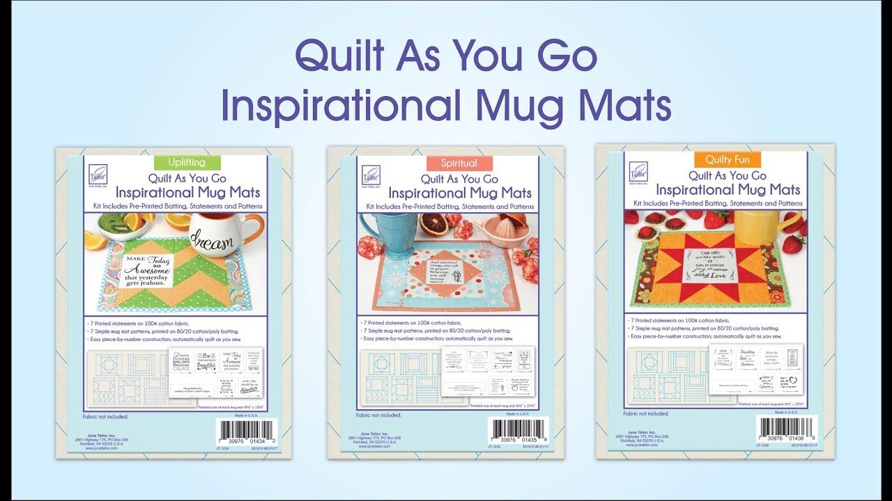 Quilt As You Go Inspirational Mug Mats