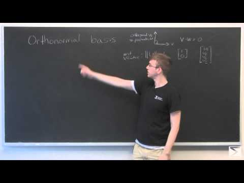 Linear Algebra: Orthonormal Basis