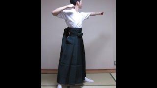 弓道若手との袴合宿4 女袴 半幅帯を締め 前結び 胴造り・体幹意識の面(卒業袴)