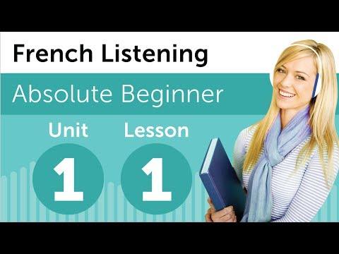 Luyện nghe tiếng Pháp A1- Bài 1: Tại nhà sách