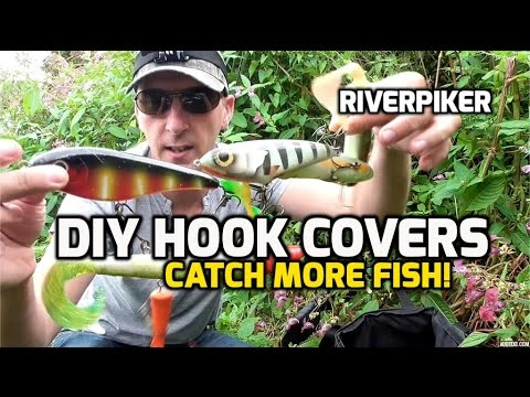 Diy hook covers tip to help catch more pike video 103 for Fishing hook cover