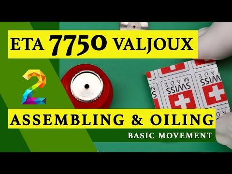 ETA 7750 VALJOUX | PART 2 | ASSEMBLING & OILING | BASIC MOVEMENT | BREITLING | WATCH REPAIR