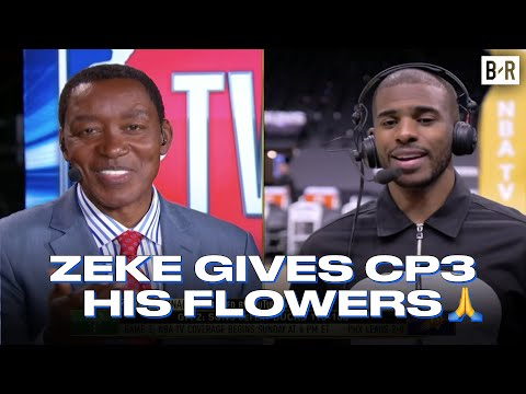 Isiah Thomas and CP3 show respect to eachother.