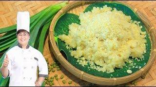 CÁCH NẤU XÔI VÒ ngon - CÁCH NẤU XÔI VÒ dẻo, tơi/ Mung Bean Coated Sticky Rice Recipe