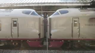JR東海・西日本【寝台特急サンライズ瀬戸・出雲】285系、岡山駅分割作業,Japan Railway, Sunrise Express