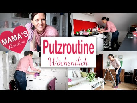 w chentliche putzroutine putzen aufr umen und haushalt machen rebekka youtube. Black Bedroom Furniture Sets. Home Design Ideas