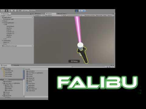 Kirito's Energy Sword - Gun Gale Online - SAO II - Created in Unity 3D - Line Renderer