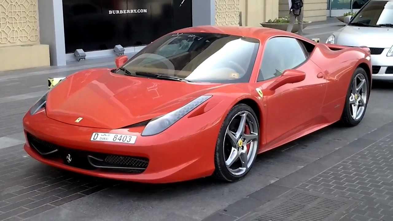 f547f3f6a Red Ferrari at Dubai Mall, Dubai فيراري حمراء في دُبي - YouTube