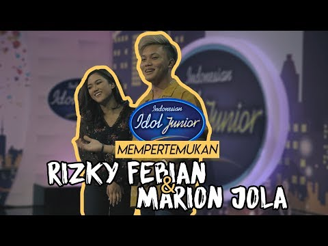 Image of Indonesian Idol Junior mempertemukan Rizky Febian & Marion Jola