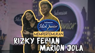 Indonesian Idol Junior mempertemukan Rizky FebianMarion Jola
