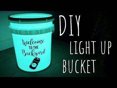 DIY | Light Up Camping/Backyard Bucket