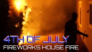 4th Of July Fireworks / House Fire Burns Apartment Complex in Seattle