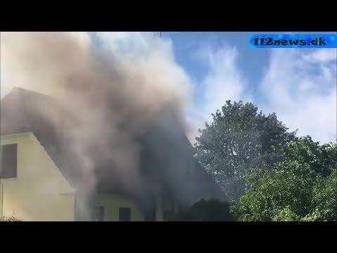 Voldsom gårdbrand på Slagelse Landevej ved Vemmelev