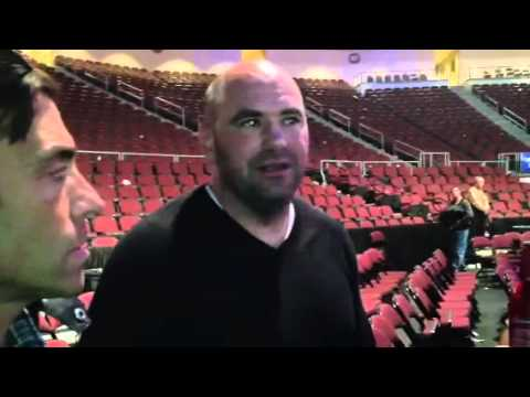 Hilarious! Bill Shehan interviews and rubs Dana White's head