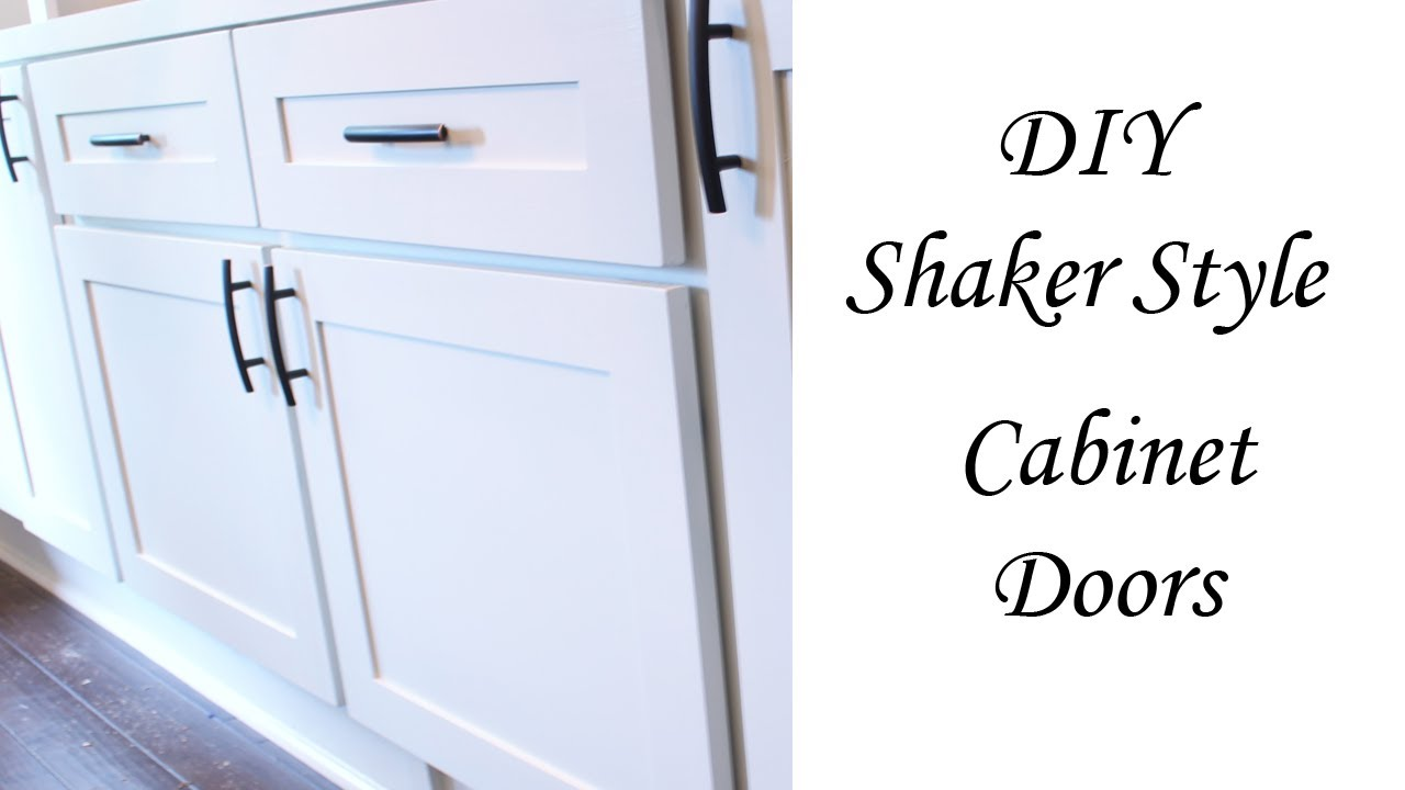 CHEAP DIY: Shaker Style Cabinet Doors - YouTube
