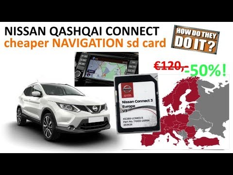 nissan qashqai cheap navigation update sd cards youtube. Black Bedroom Furniture Sets. Home Design Ideas