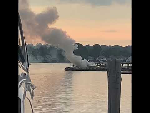 Video Captures Blaze After Explosion On Boat With Six Aboard In Norwalk Harbor