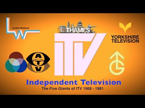 ITV   The Five Giants of Independent Television 1968-81 ident  HD