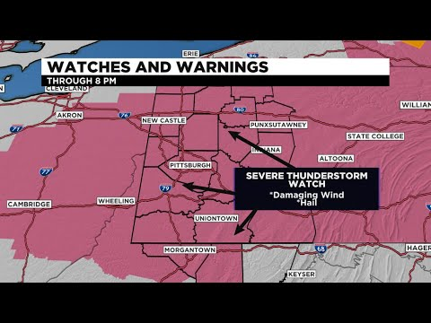 Pittsburgh Weather: Severe Thunderstorm Watch Issued For Several ...
