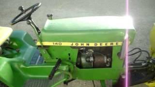 1973 John Deere 140 H3 Garden Tractor.