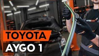 Hvordan bytte vindusviskere / viskerblader på TOYOTA AYGO 1 (AB10) [BRUKSANVISNING AUTODOC]