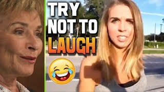 Judge Judy vs Dumbest Girls Ever! Beauty Fades Dumb is Forever! Try not to Laugh Challenge! New 2017