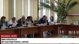 XVI sesja Rady Powiatu Łaskiego