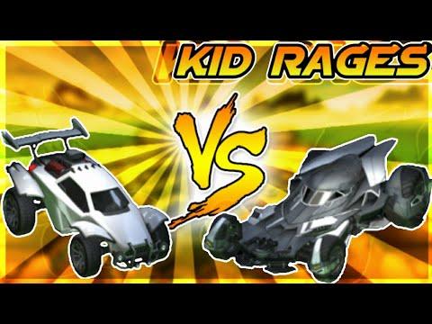 ANGRY KID ON ROCKET LEAGUE!! OCTANE VS BATMOBILE!! (FUNNY MOMENTS)
