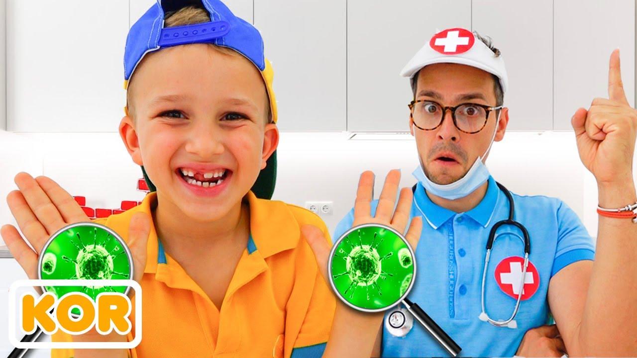 블라드와 니키와 손 이야기를 씻어 | 아이들을위한 재미있는 비디오