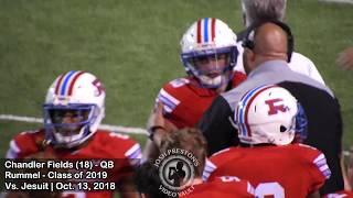 Chandler Fields vs. Jesuit (16/21, 217 yards, 2 TDs) - Rummel 2020 QB/UL commit