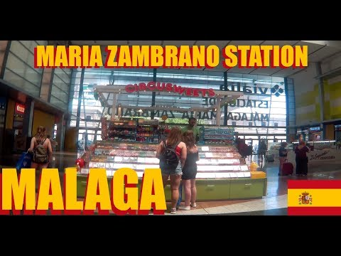 Maria Zambrano Train Station In Malaga Spain After Arriving From Madrid Atocha