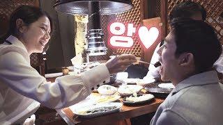 """[메이킹] """"준희 앙~♡"""" 고기 잘 먹여주는 예쁜 누나 진아♥"""