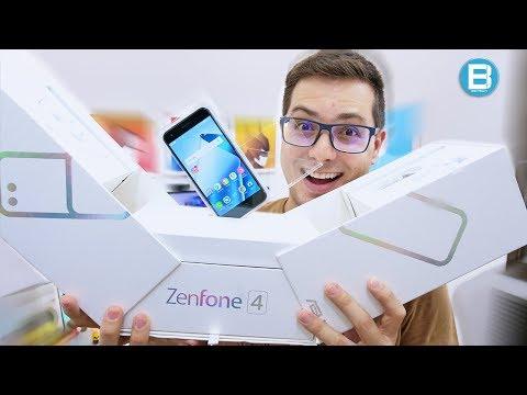 MEGA UNBOXING de um MEGA SMARTPHONE! ZENFONE 4!