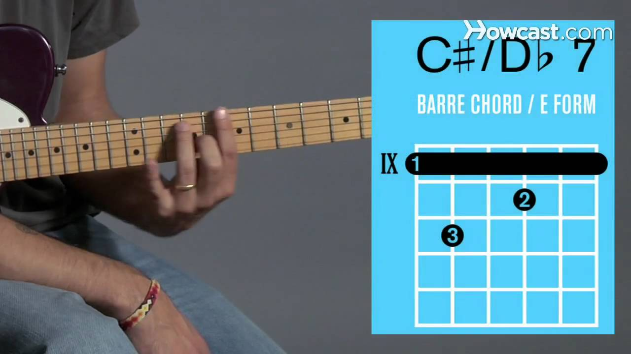 How To Play A C 7 D 7 Barre Chord Guitar Lessons Youtube