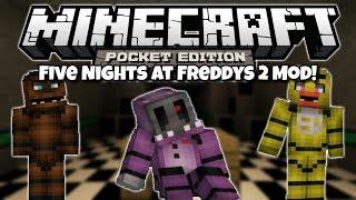 five nights at freddys 2 mod minecraft pocket edition mod showcase 0 10 5