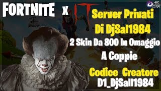 🔴FORTNITE SERVER PRIVATI BASTA ISCRIVERSI - REGALO 2 SKIN - ET AFTER OMEGLE!! DIVERTS INSIEME🔴