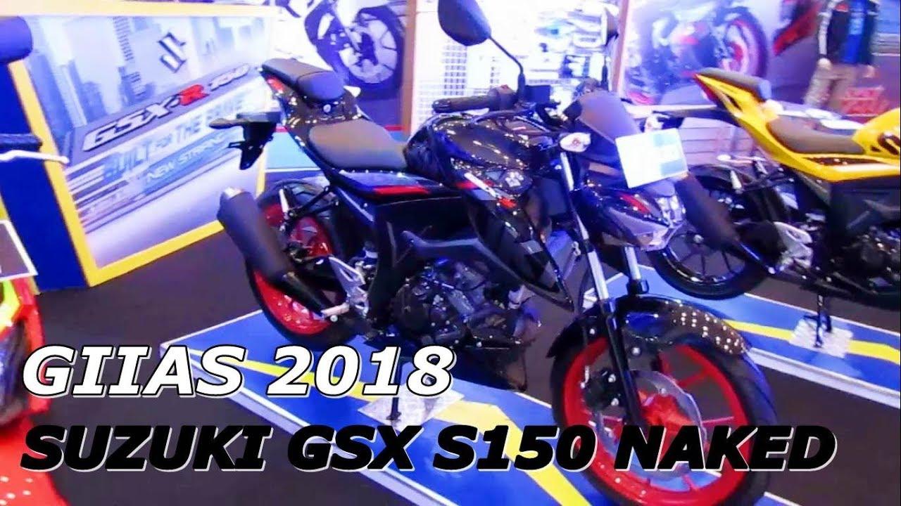 New 2018 Suzuki Gsx S150 Streetfighter Black Details Walkaround