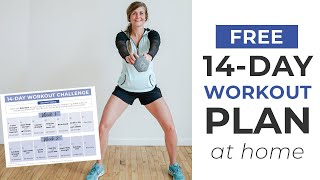 FREE 14-Day Challenge + Home Workout Plan  | 2 Weeks of Daily Workouts