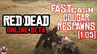 Red Dead Online| UNLIMITED NEW Cougar Location Fast Respawn!  $260 PER HOUR) RED DEAD ONLINE!