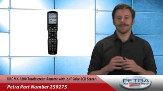 urc mx 1200 touchscreen remote with 2 4 color lcd screen