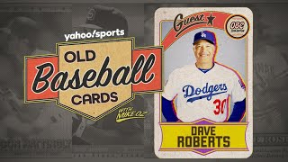 Dodgers manager Dave Roberts opens 25-year-old baseball cards
