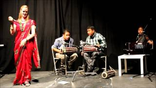 Anna Sttir American Singing Nepali Folk Song in LA, USA August 25, 2012